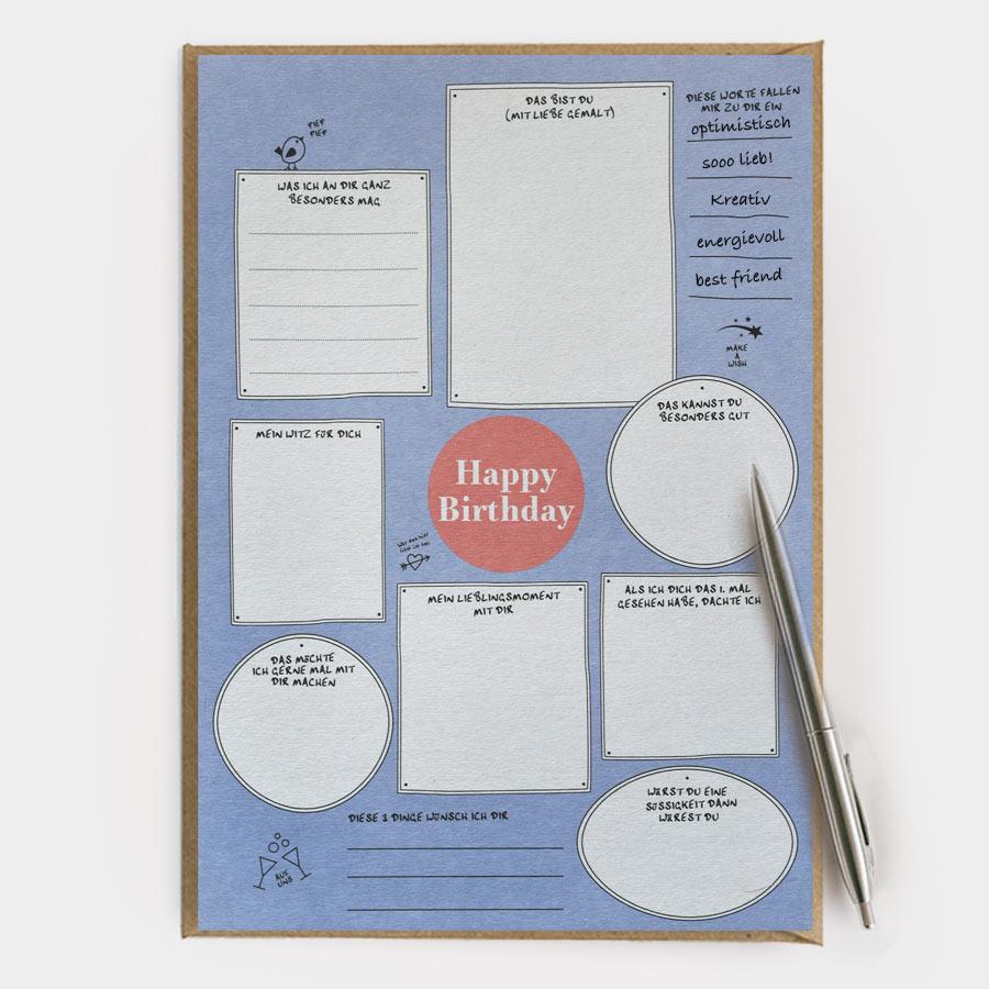 HAPPY BIRTHDAY (A4 Maxicard)